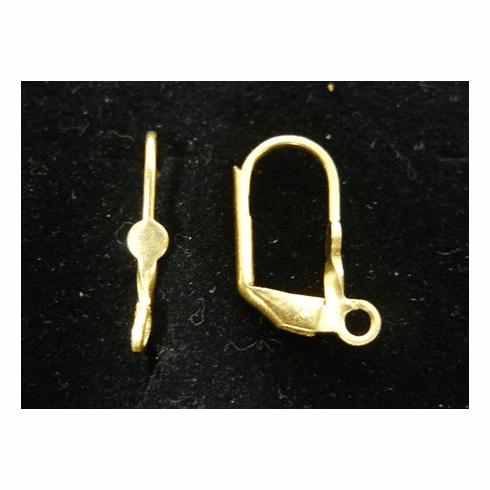 Lever Back Ear Wire w/ Detail - 8x15mm - 7 Pairs - 24Kt. Gold Over Copper