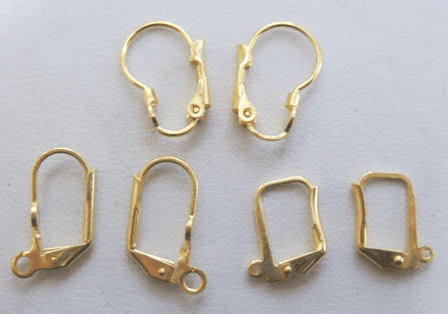 Lever Back Ear Wires - 24kt. Gold Over Copper