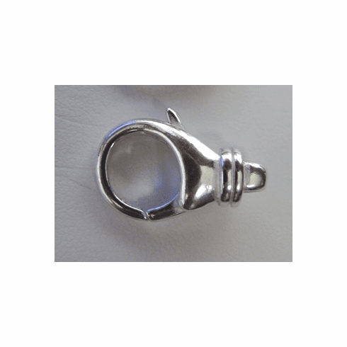 Lobster Clasp with Detail - 19mm - 3 Pieces - .999 Silver Over Copper<br>SCBKB14SL