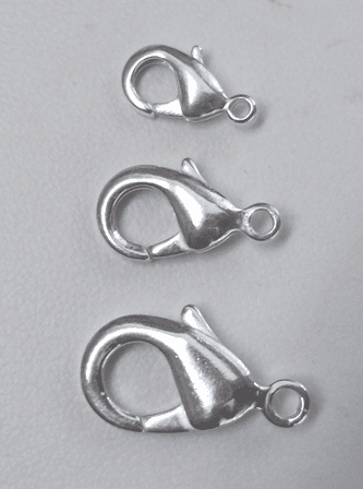 Lobster Clasps - 10mm, 16mm, 20mm Pure Silver Copper core