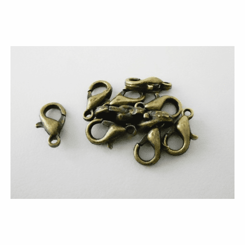 Lobster Claw Clasp - 10mm - 10 Clasps - Brass<br>E103-NFAB