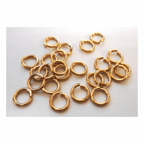 Locking Jump Rings - 6mm - 25 Pieces - Brass<br>ABJL06