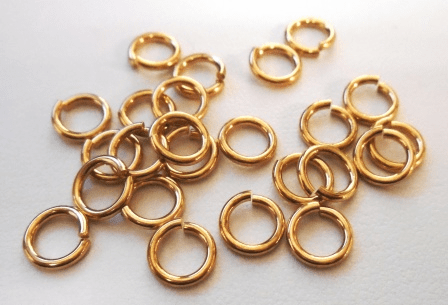 Locking Jump Rings - 8mm - 25 Pieces - Brass<br>ABJL08