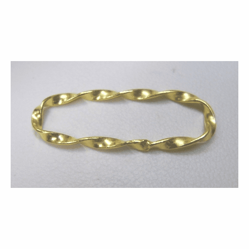 Long Oval Twisted Connector - 10x30mm - 9 Pieces - 24KT Over Copper Core
