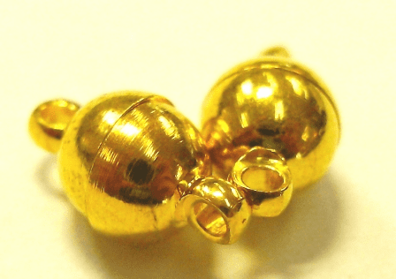 Magnetic Clasp - 2 Clasps - 24KT Gold Over Copper Core