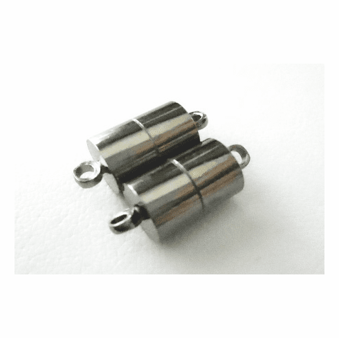 Magnetic Clasp - 7x17mm - 2 Clasps - Gun Metal<br>MC027-B