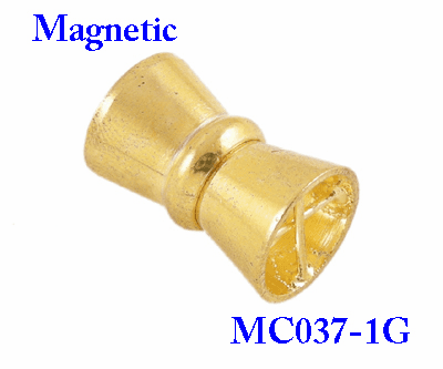 Magnetic Clasps, Brass, Golden Color, about 11mm wide, 17mmm long