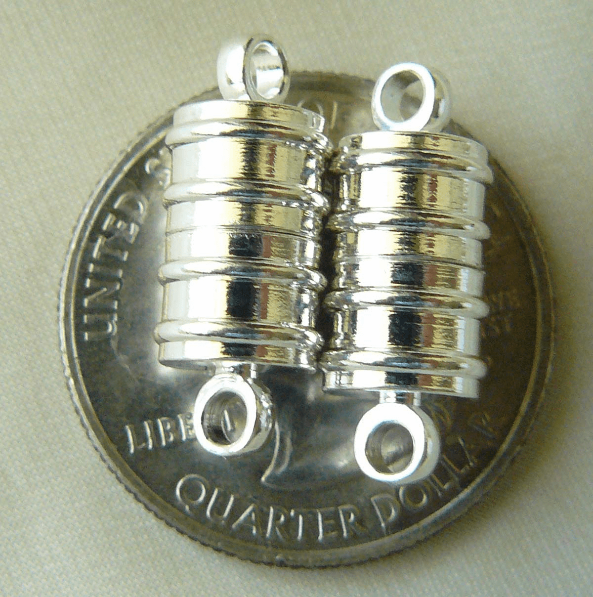 Magnetic clasps Super strong set of 2 canister 8x11mm