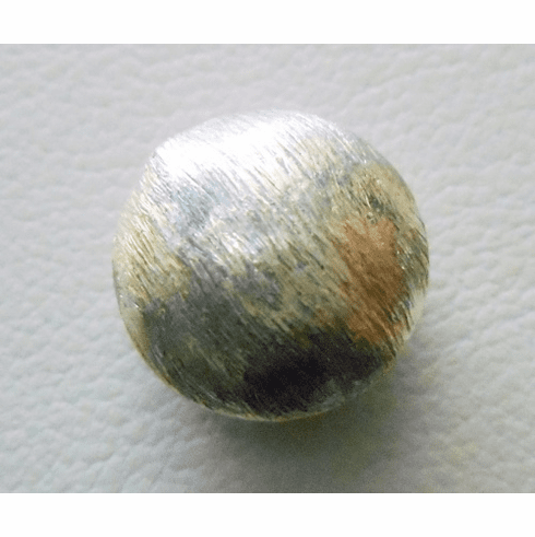 Mat Bead - 12x7mm - 1 Bead - Sterling Silver<br>ORSB-1898