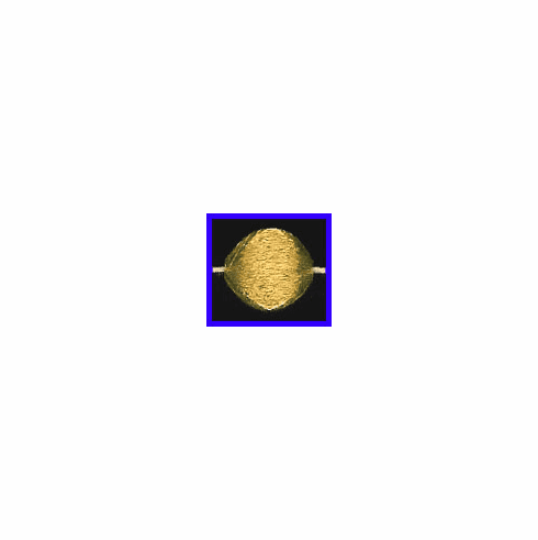 Mat Bead - 14x13mm - Gold Plated Silver<br>ORSB-1921