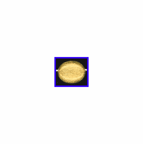 Mat Bead - 16x13mm - Gold Plated Silver<br>ORSB-1935