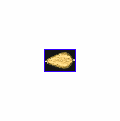 Mat Bead - 17.5x11.5mm - Gold Plated Silver<br>ORSB-1919
