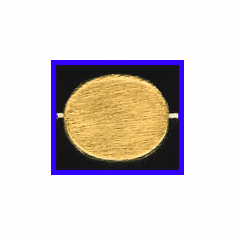 Mat Bead - 18x15mm - Gold Plated Silver<br>ORSB-1917