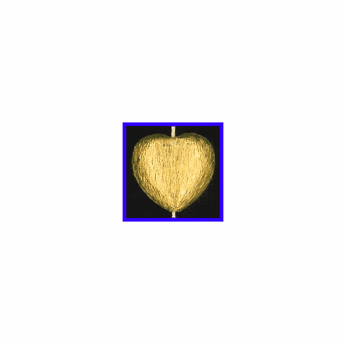 Mat Bead - 19.5x20mm - Gold Plated Silver<br>ORSB-1933