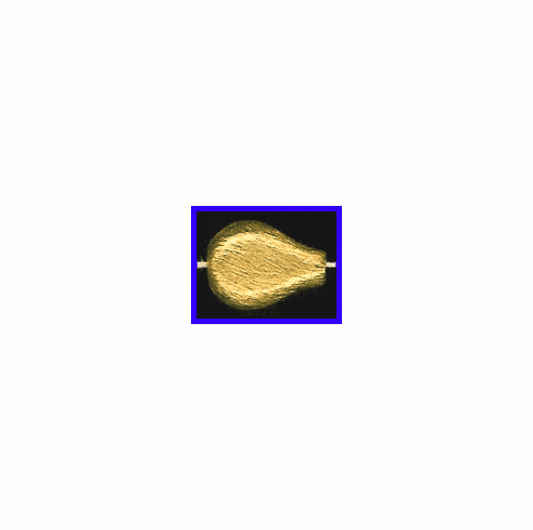 Mat Bead - 19x14mm - Gold Plated Silver<br>ORSB-1918