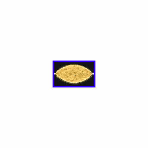 Mat Bead - 20x11mm - Gold Plated Silver<br>ORSB-1948