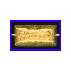 Mat Bead - 24x12mm - Gold Plated Silver<br>ORSB-1931