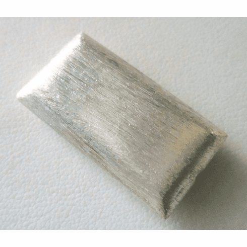 Mat Bead - 30x16mm - 1 Bead - Sterling Silver<br>ORSB-1916