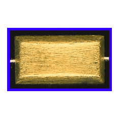 Mat Bead - 30x16mm - Gold Plated Silver<br>ORSB-1930