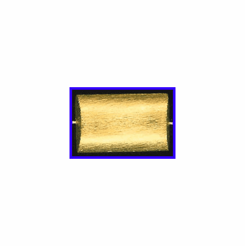 Mat Bead - 31.5x20mm - Gold Plated Silver<br>ORSB-1929