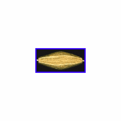 Mat Bead - 31x12.5mm - Gold Plated Silver<br>ORSB-1928