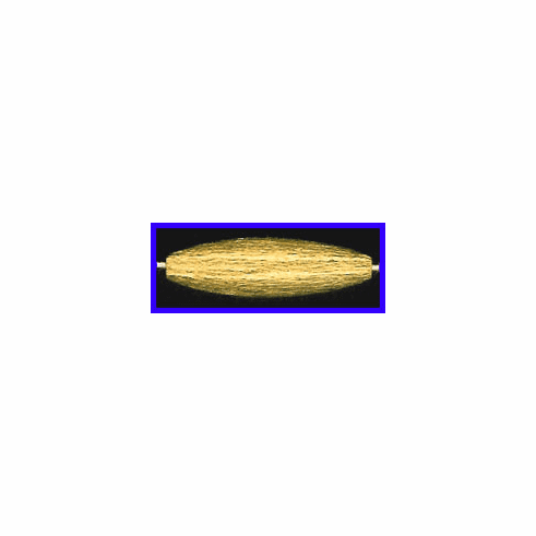 Mat Bead - 32.5x9mm - Gold Plated Silver<br>ORSB-1925