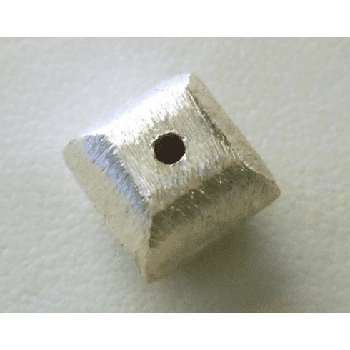 Matte Bead - 10x10mm - 1 Bead - Sterling Silver<br>ORSB-1893