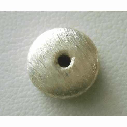 Matte Bead - 10x4.5mm - 1 Bead - Sterling Silver<br>ORSB-1885