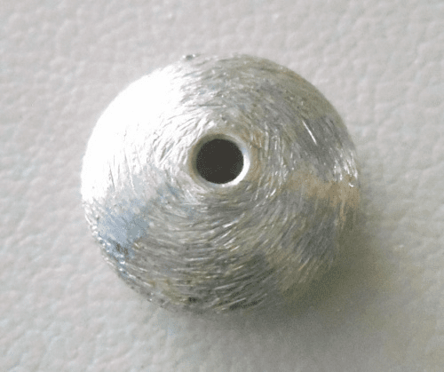 Matte Bead - 12x5mm - 1 Bead - Sterling Silver<br>ORSB-1888
