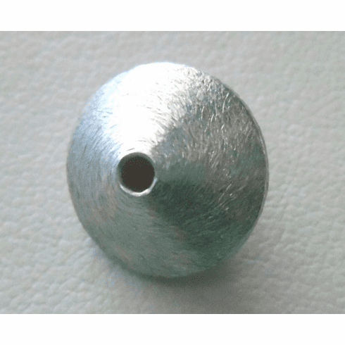 Matte Bead - 14x9mm - 1 Bead - Sterling Silver<br>ORSB-1889