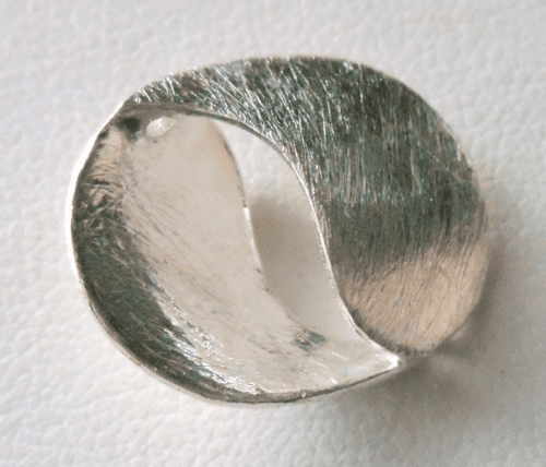 Matte Bead - 20x17mm - 1 Bead - Sterling Silver<br>ORSB2071