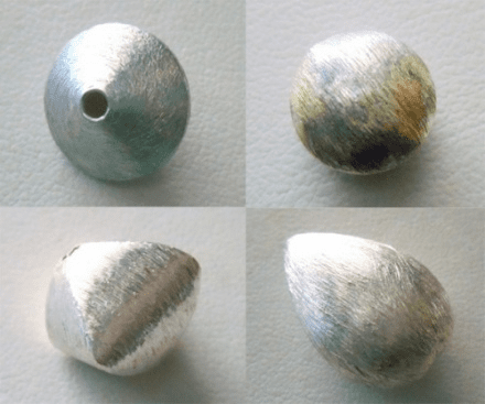 Matte Beads - Sterling Silver -