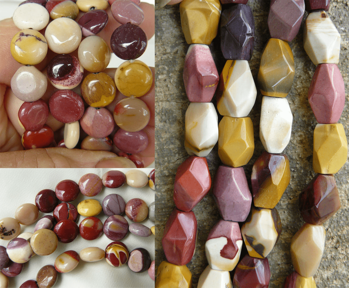 """Mookaite Beads - Oval, Chunky, Faceted and more 16"""" strands"""