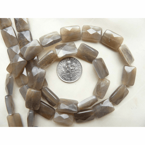 Moonstone Beads Faceted 10x15mm Rectangle Beads