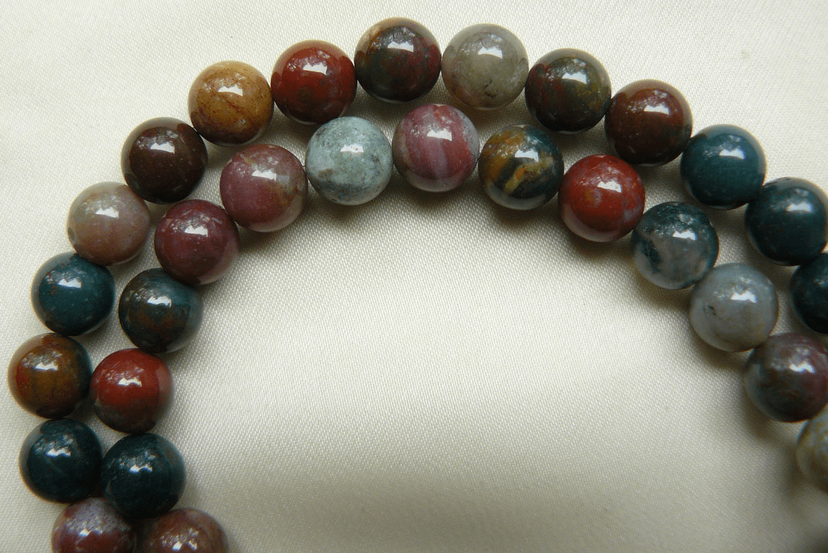 """Moss Agate 8mm ound Beads 16"""" Strands"""