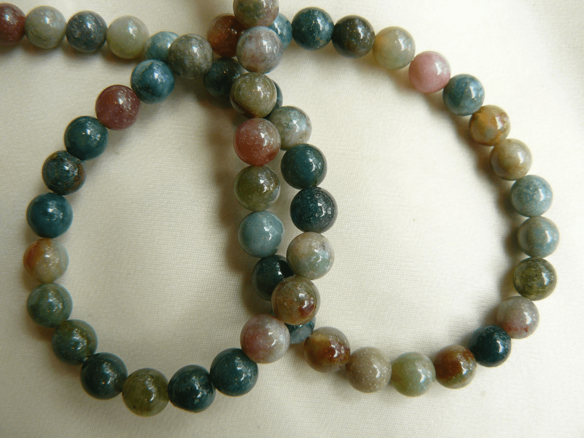 """Moss Agate Round 6mm Beads 16"""" strands Scenic colorful"""
