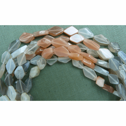 Multi color Moonstone with all its shimmer Beads Diamond cut