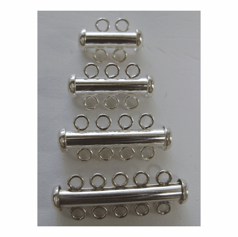 Multi-Strand Slide Clasps with magnetic latch lock 999 silverover copper