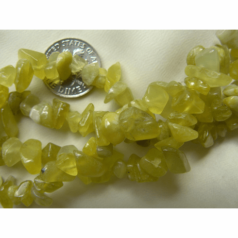 New Jade - Chip Beads 32 inch strand stone sizes 5 to 10mm