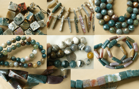 Ocean Jasper Beads Many different cuts and Designs 16 inch Strands