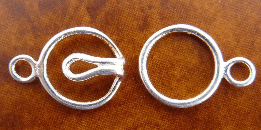 One Ring Single Strand Clasp - 9mm - 5 Clasps - Sterling Silver<br>SS/6020/1-10