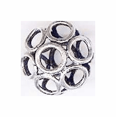 Open Large-hole Bead - 14x16mm - .999 Pure Silver Over Copper<br>SCBKP14