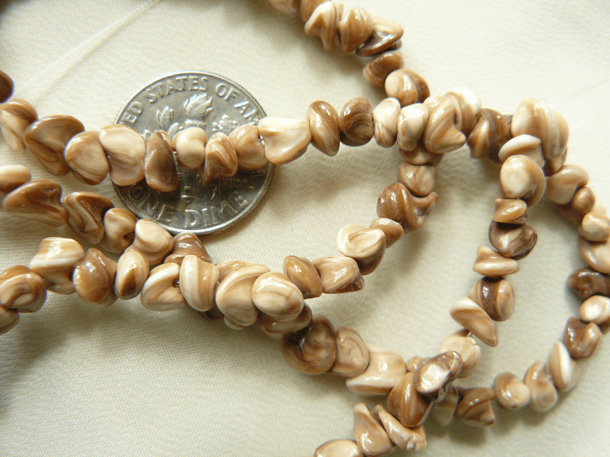 """Orchid Shell Beads 5mm average size 16"""" strands"""