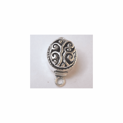 Oval Box Clasp - 19mm - 2 Clasps - .999 Silver Over Copper