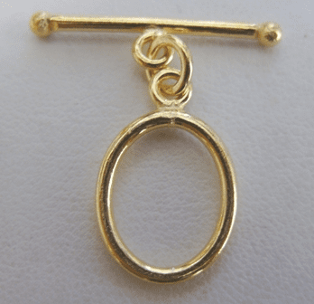 Oval Toggle - 13x18 Oval w/ 28mm Bar - 6 sets - 24Kt. Gold Over Copper