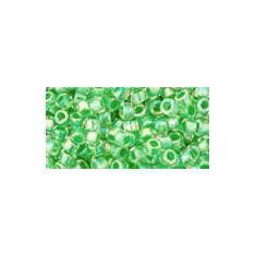 Pastel Green Lined Crystal