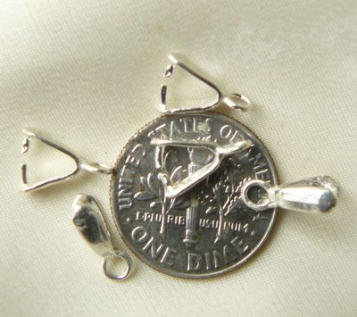 Petite Pinch Bail Sterling silver 5 pieces SBF0549