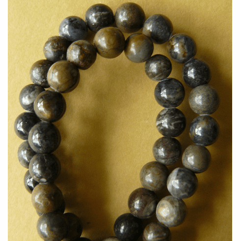 """Picasso Marble Beads Darker 8mm 16"""" strand"""