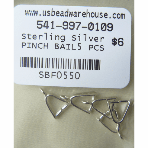 Pinch Bail Sterling silver 5 pieces SBF0549