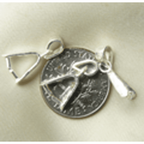 Pinch Bail with it own bail Sterling silver  SFBF035 7mm-Wd x 15mm-LG